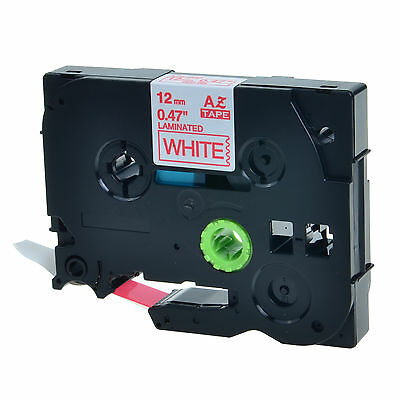 """1PK TZ 232 TZe-232 Red on White Label Tape For Brother P-Touch PT-H300 1/2"""" 12mm"""