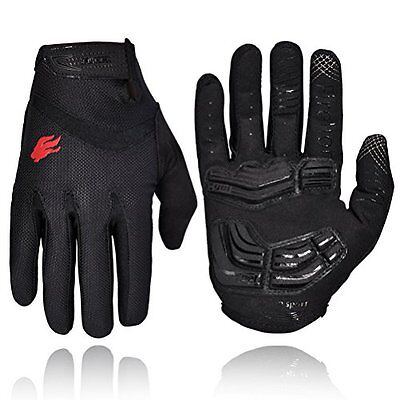 FIRELION Cycling Gloves Riding Mountain Bike Bicycle Racing MTB DH Downh...Large