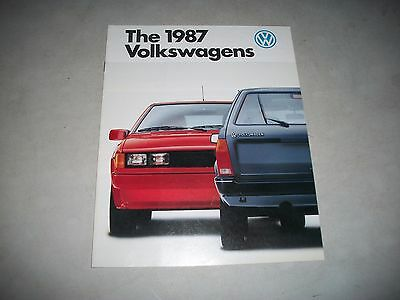The 1987 Volkswagens Sales Brochure Canadian Market Issue Clean Cmystor4More