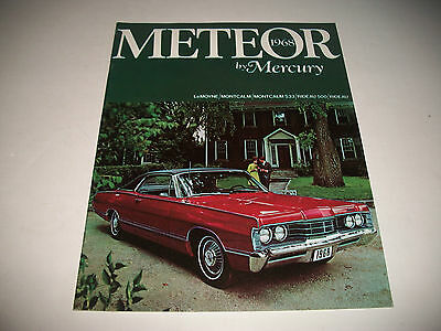 1968 Mercury Meteor Deluxe Sales Brochure Cdn Issue Lemoyne Montcalm S33 Rideau