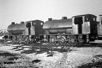 NCB 0-6-0st x 2 in the snow Manvers Colliery South Yorkshire Rail Photo