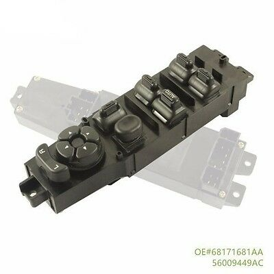 Electric Power Window Master Switch For 97-01 Jeep Cherokee 2 4-Door 2.5L 4.0L