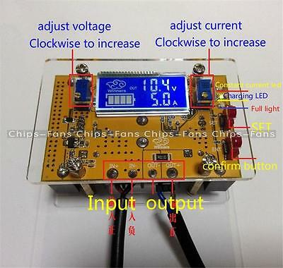 10A DC-DC Adjustable CC CV Step-down Power Supply Module LCD Dual Display + Case