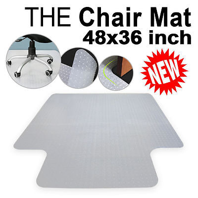 """New 48"""" x 36"""" 2mm Thick PVC Home Office Chair Floor Mat For Carpet/Tile US SHIP"""