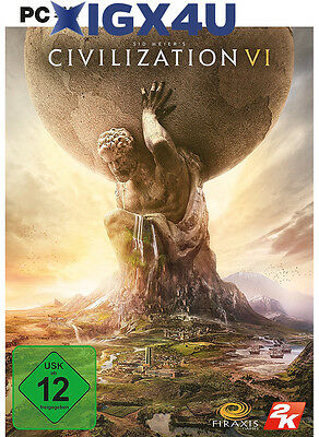 Sid Meier's Civilization VI 6 Key [PC Spiel] STEAM Digital Download Code [DE/EU]