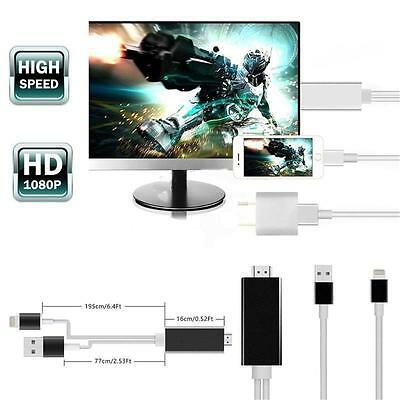 Lightning 8 Pin to HDMI Cable HDTV TV Digital AV Adapter for Apple iPhone 7 iPad