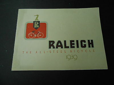 Raleigh 1939 Bicycle Cycle Catalog Catalogue Brochure