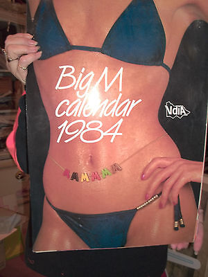 'BIG M' Flavoured Milk CALENDAR  VFU L%$K 1984