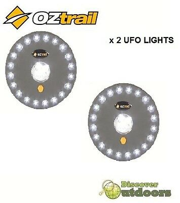 NEW OZtrail UFO LED Tent Light x 2 - Great for TENT Caravan Camping Annexe