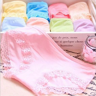 Womens Lace Soft Underpants Underwear Knickers Comfy Panties Freesize Briefs DL