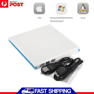 USB3.0 External Double Layer Burner Writer Player DVD CD Drive RW Laptop PC