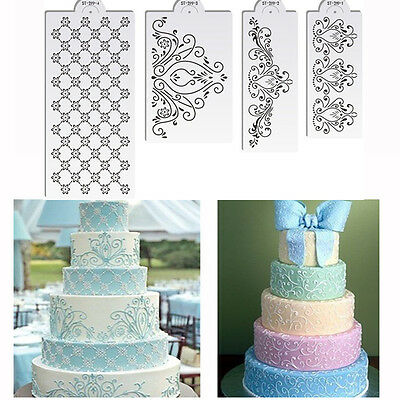 Princess Lace Cake Stencil Set Cake Border Craft Stencils Set Decorating Stencil