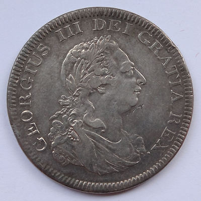 Geo III 5/- Crown Bank of England Dollar 1804 - VF+ silver coin - 652