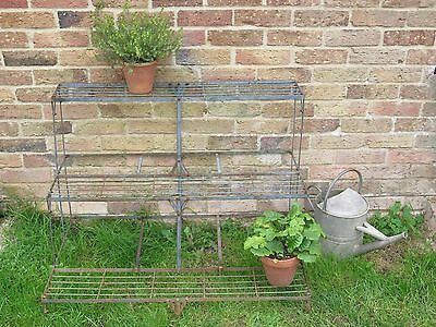 Vintage Industrial Old 3 Tier Greenhouse Outdoors Patio Garden Plant Stand