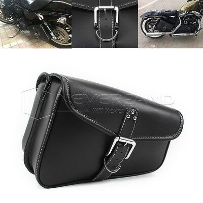2pcs Universial Motorcycle PU Leather Saddlebag Tool Pouch For Harley Left&Right