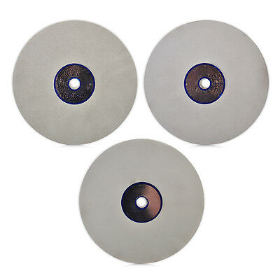 "6"" Grit 500/1200/3000 Diamond Flat Lap  Wheel Lapping Grinding Polishing disc"
