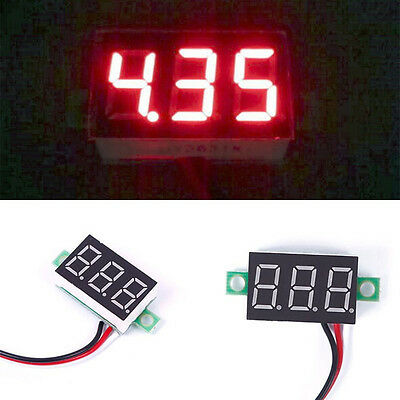 Mini DC2.5-30V LED Panel Voltage Meter 3-Digital Display Voltmeter Voltage Meter