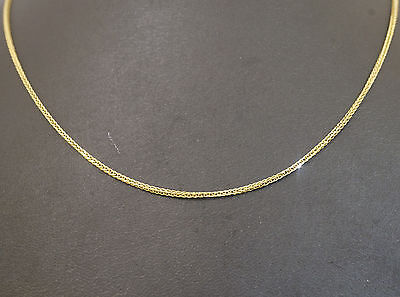 "9Ct Yellow Gold 16"" Foxtail Link Chain Necklace (1mm Wide Link)"