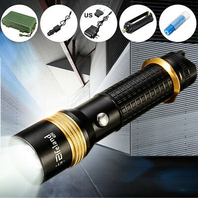 8000Lm Q5 LED Rechargeable Zoomable Flashlight Torch With 18650 Battery HOT