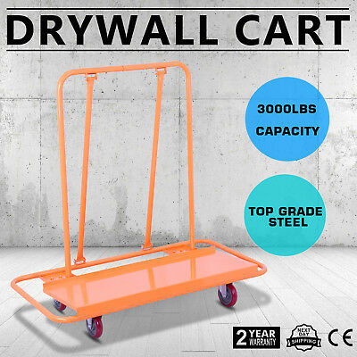 3000LBS Drywall Cart Dolly Handling Heavy-duty Sheetrock Sheet Professional