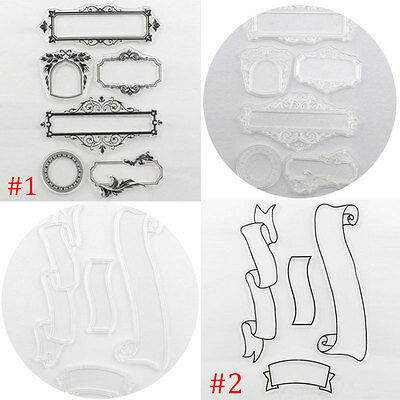 Clear Rubber Transparent Stamp DIY Scrapbooking Christmas Card Making Supplies