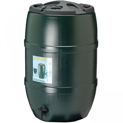 Ward Green Plastic Water Butt with Childproof Lid and Tap - 120 Litre GN321