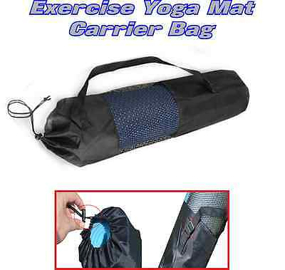 New Yoga Mat Carrier Bag Nylon Mesh Adjustable Strap Washable Exercise