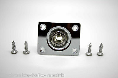 New Chrome Jack Plate & Socket For Gibson Epiphone Telecaster Jack Guitarra