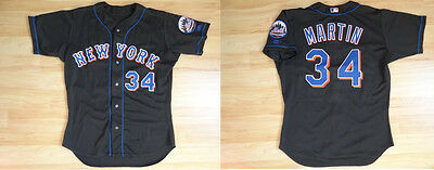 MLB Authentic Baseball Trikot Jersey NEW YORK METS Martin 34 GameUsed sz48 XL