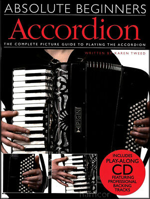 Absolute Beginners Accordion Learn How to Play Book +CD