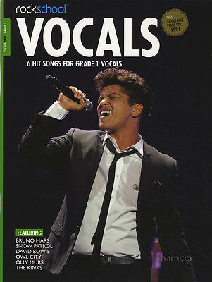 Rockschool Vocals Male Singers Grade 1 Music Book with Audio Download Card