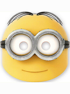 6 Despicable Me Lovely Minion Birthday Party Face Masks Favour Loot Bag Fillers