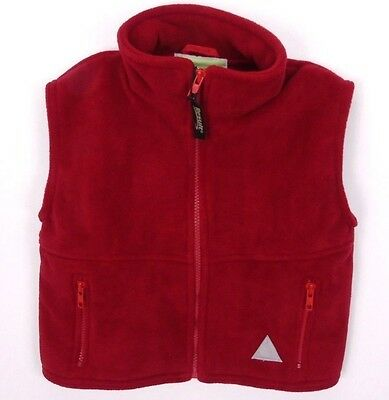 Kids Childrens Youths Fleece Bodywarmer Gilet Red Age 3 - 4