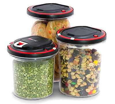 Vacuum Sealing Food Storage Container Automatic System Motor Included Set of 3