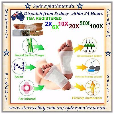 Real Foot Detox Patch Natural plant Pads Toxin Removal Detoxify Fit Health Care