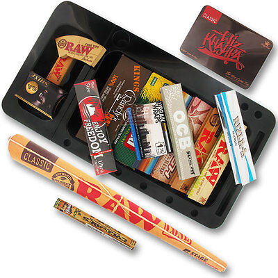 Cookies Tray & Rolling Papers Bumper Gift Set - Excellent Value Great Gift