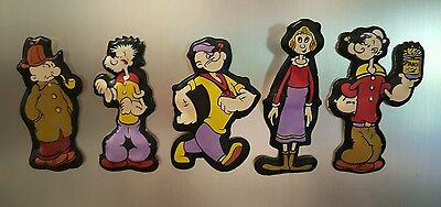 1974 Popeye Olive Oyl Poopdeck Pappy Castor Oyl Magnets King Features Cartoon