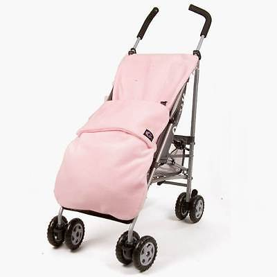 Genesis Universal Pale Pink Soft Fleece Footmuff Cosytoes Cosy Toe Buggy Liner