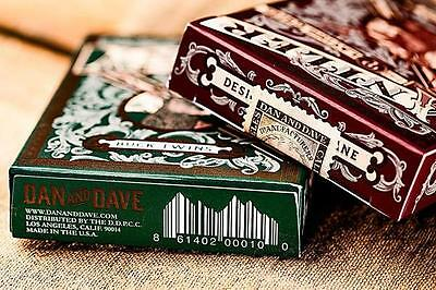 Antler Playing Cards - Green - Limited Edition - Dan and Dave Deck - New