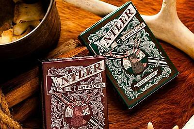 Antler Playing Cards - Maroon - Dan and Dave Deck -  Magic Tricks - New