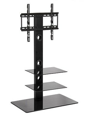 Cantilever Black TV Stand with mount for 32 - 50 inch LCD LED LG Samsung tv's