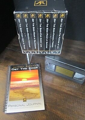 Anthony Tony Robbins Get the Edge & Personal Power set vhs cassettes journal