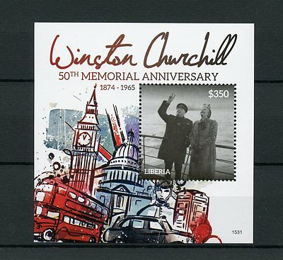 Liberia 2015 MNH Winston Churchill 50th Memorial Anniv 1v S/S Big Ben Stamps