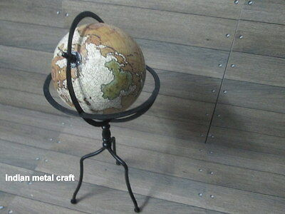 "Super series World Globe With Table Tripod Stand 8"" Globe Authentic Modern Style"