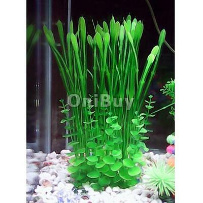 H-38cm Artificielle Plante en Plastique Ornement Aquarium Decoration