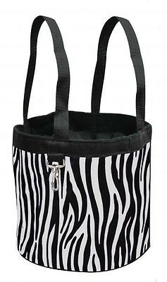 New ZEBRA Showman Collapsible Grooming Tote Bucket w/ Carry Handles
