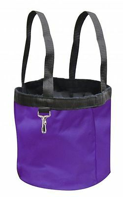 New PURPLE Showman Collapsible Grooming Tote Bucket w/ Carry Handles