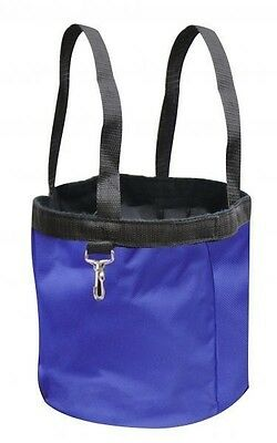 New BLUE Showman Collapsible Grooming Tote Bucket w/ Carry Handles