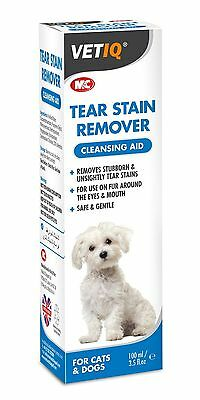M&C VetIQ Tear Stain Remover Facial Cleanser for Dogs and Cats 100ml