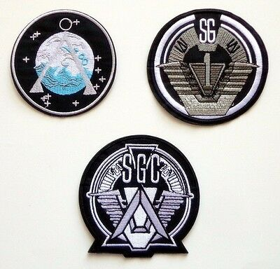 Stargate SG-1 TV Series Patch Set of 3 Command Uniform Goth Punk Logo